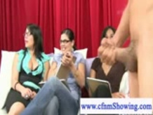 Cfnm girls laughing at Nude mans dong