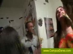 Naked and messy students giving blowjobs