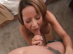Hot exgirlfriend sucks big cock on tape