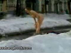 Hot Naked Woman On Street
