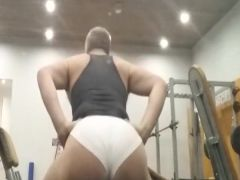Naked at the gym