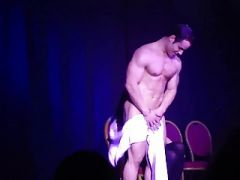 Anoter Real Ladies Night with male stripper (CFNM)