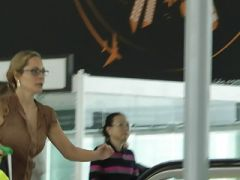 Airline Passenger With Very Bouncy Tits