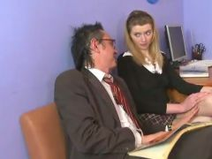 Erotic old tutor giving lessons