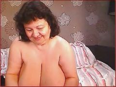 Mature with heavy heavy tits