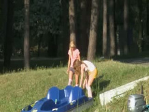 Eva and Loly Nude by the river