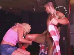 Real amateurs with male strippers