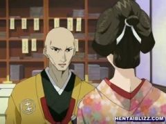 bigtit jap kimono cartoon standing fucked and riding Cock