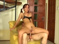 Milf naked and bent over for anal sex